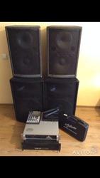 Продам полный комплект аудио аппаратуры для кафе клуба дома.
