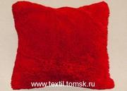 Думка меховая,  декоративная подушка. Искусственный мех Лама