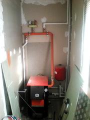 Монтаж котлов систем отопления