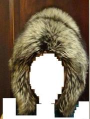 Шапка зимняя из чернобурки на девочку