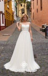 Свадебное платье и шубка,  размер 40-42,  цвет - айвори,  одевалось 1 раз